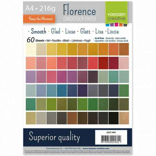 Florence, Cardstock Smooth, Multipack , A4, 60 vel - 2927-999