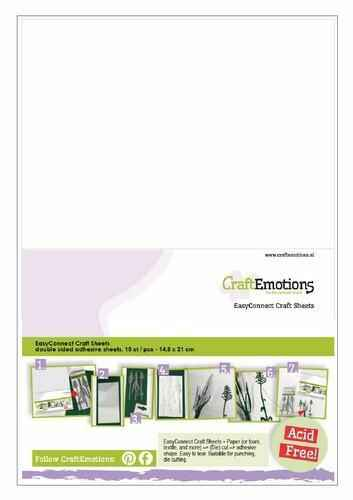 CraftEmotions, EasyConnect Craft Sheets, Dubbelzijdig klevend, A5 formaat - 119491/0005