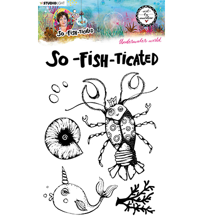 Studiolight, Art by Marlene, Clear Stamp,  So-Fish-Ticated, , Underwater World- ABM-SFT-STAMP10