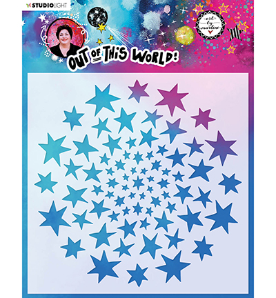 Studiolight, Art by Marlene, Mask Stencil, Out of this World, Star Circle Round - ABM-OOTW-MASK45