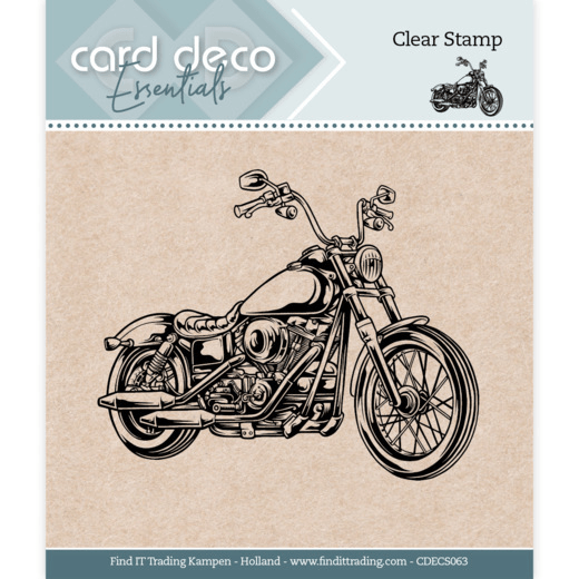 Card Deco, Clear Stamp, Motor- CDECS063