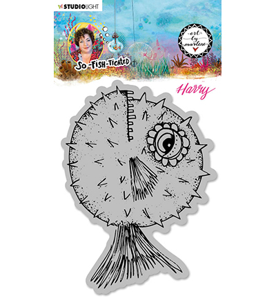 Studiolight, Art by Marlene, Cling Stamp, So-Fish-Ticated, Harry (Blowfish) - ABM-SFT-STAMP15