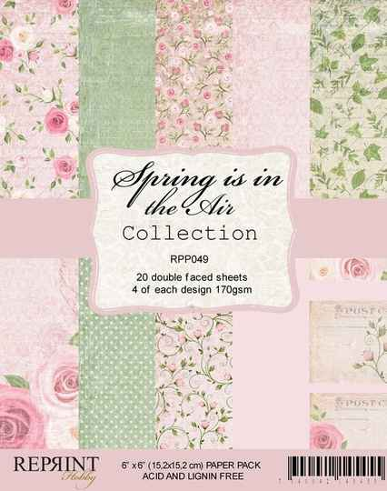 Reprint, Paperpad, Spring is in the Air Collection , 6x6 inch - RPP049