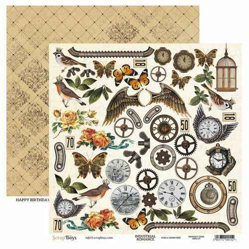 ScrapBoys, Scrapbookpapier, Industrial Romance , Cut Out Elements - INRO-07