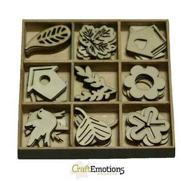 CraftEmotions, Houten Ornament, Tuin nr. 1 - 811500/0202