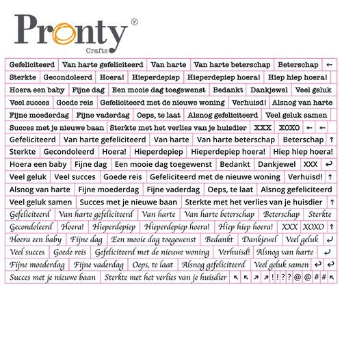 Pronty, Stickers, Quote White , A5 formaat - 491.100.012