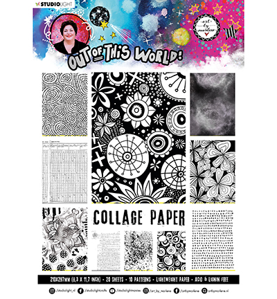 Studiolight, Art by Marlene, Collage Paper, Pattern Paper, Out of this World, nr. 15 - ABM-OOTW-PP15