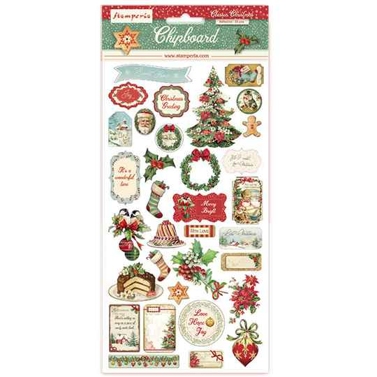 Stamperia, Chipboard, Classic Christmas  - DFLCB05