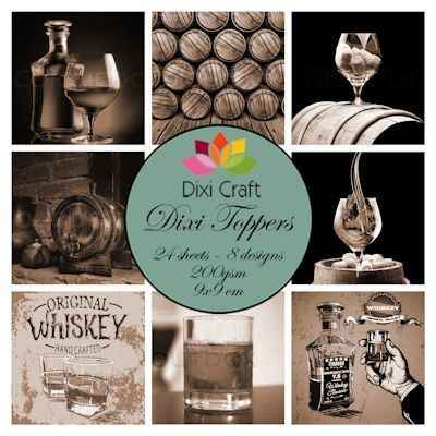 Dixi Craft, Toppers, Whiskey, Sepia- ET0330