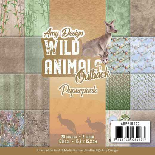 Amy Design, Paperpad, Wild Animals Outback - ADPP10032
