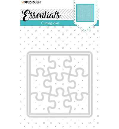 Studiolight, Snijmal, Essentials, Small Shape, Square Puzzle , Nr. 388 - STENCILSL388