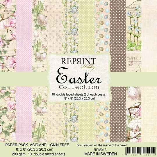 Reprint, Paperpad, Easter Collection, 8x8  inch - RPM013