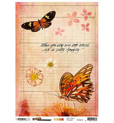 Studiolight, Rice Paper , Butterfly Collection nr. 22 - RICEJL22