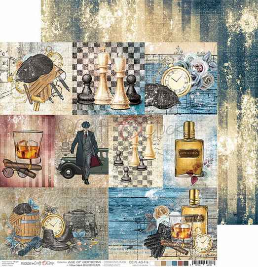 Craft O Clock, Scrapbookvel , Age of Gentleman , A sheet with decorative cards