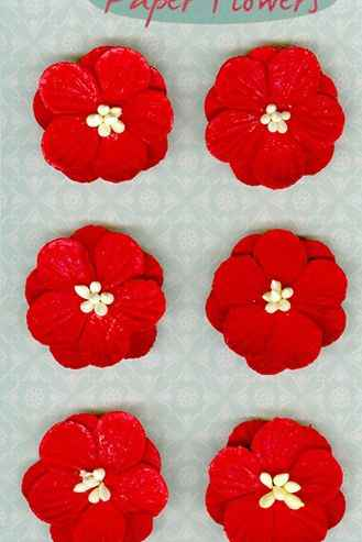Marianne Design, Paper Flowers, Rood - RB2235