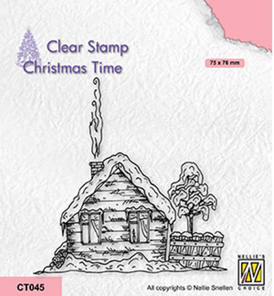 Nellie Snellen, Clear Stamp, Christmas Time, Snowy Cottage 2 - CT045