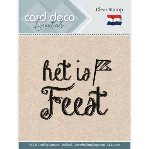 Card Deco, Clear Stamp, Het is feest - CDECS024
