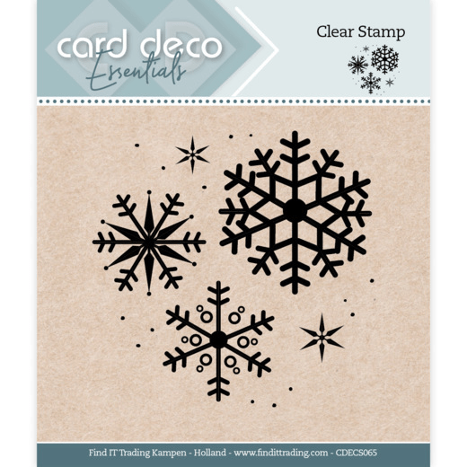 Card Deco, Clear Stamp, Snowflake - CDECS065