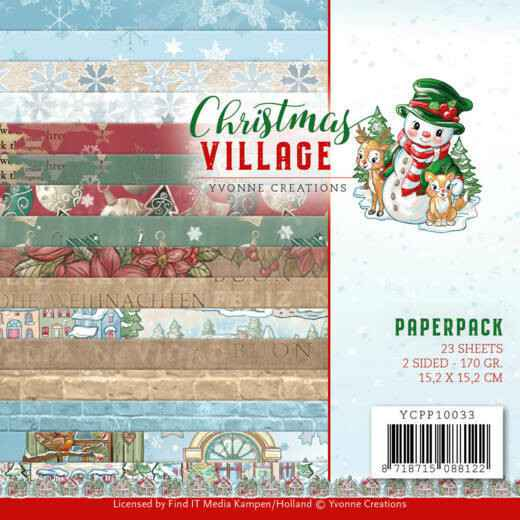 Yvonne Creations, Paperpad, Christmas Village - YCPP10033