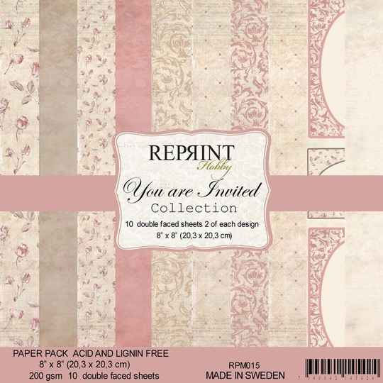 Reprint, Paperpad, You Are Invited Collection, 8x8 inch - RPM015
