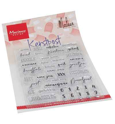 Marianne Design, Clear Stamp, Kerst post by Marleen - CS1069