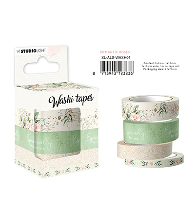 Studiolight, Washi Tape, Another Love Story, Romantic Roses - SL-ALS-WASH01