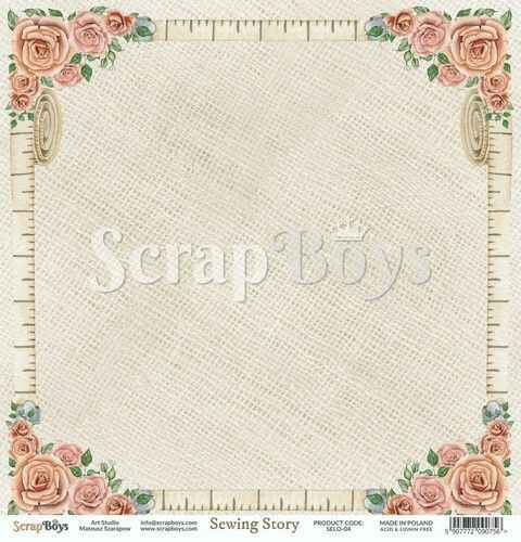 ScrapBoys, Scrapbookpapier, Sewing Love 04 - SELO-04