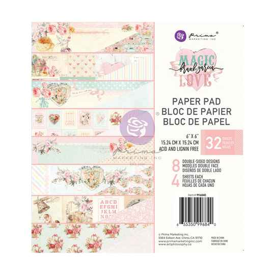 Prima Marketing, Paperpad, Magic Love , 6x6 inch - 996840