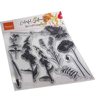 Marianne Design, Clear Stamp, Colorful Silhouette, Wild Flowers - CS1084