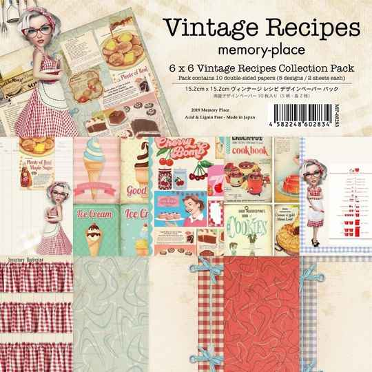 Memory Place, Paperpad, Vintage Recipes, 6x6 inch - MP-60283