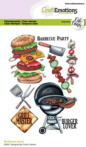 CraftEmotions, Clear Stamp, Carla Creaties, Barbecue Party - 130501/1511