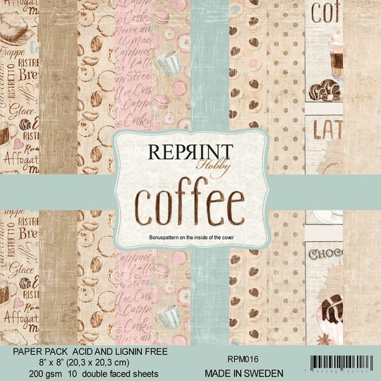 Reprint, Paperpad, Coffee Collection , 8x8 inch - RPM016