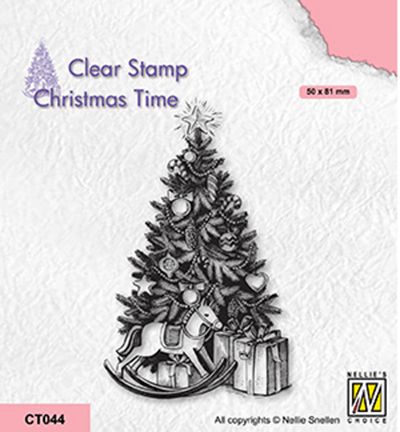 Nellie Snellen, Clear Stamp, Christmas Time, Christmas Tree and Presents - CT044