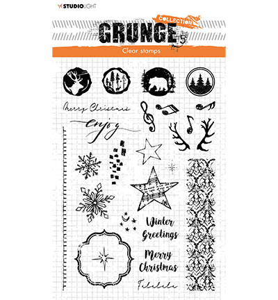 Studiolight, Clear Stamp, Grunge Collection , Winter/Christmas Extras - SL-GR-STAMP106