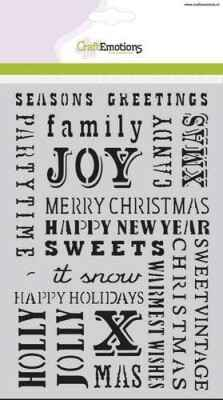 CraftEmotions, Mask Stencil, Text Christmas - 185070/1232