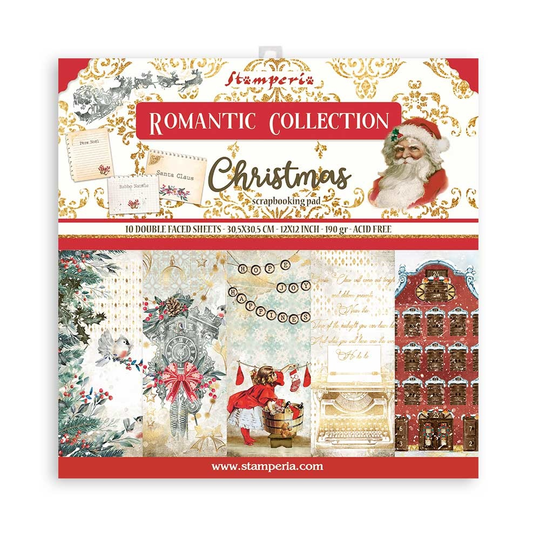 Stamperia, Paperpad, Romantic Christmas , 12x12 inch - SBBL96