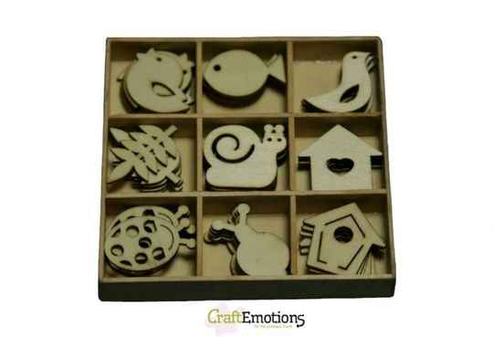 CraftEmotions, Houten Ornament, Tuin nr.2 - 811500/0203