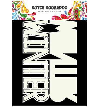 Dutch Doobadoo, Card Art, Text 'Winter' - 470.713.642