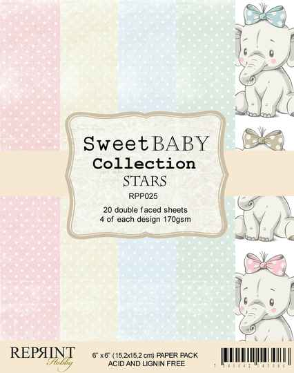Reprint, Paperpad, Sweet Baby Collection, Stars - RPP025