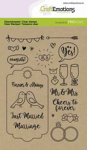 CraftEmotions, Clear Stamp, Wedding - 130501/2503