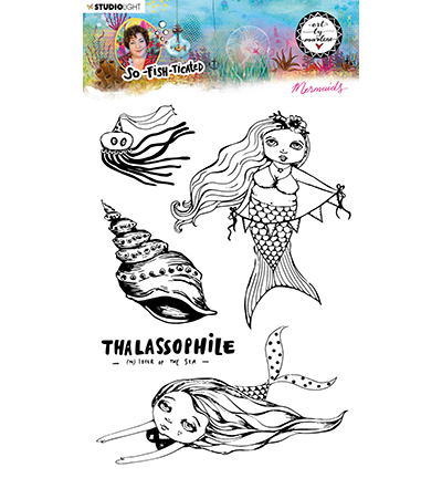 Studiolight, Art by Marlene, Clear Stamp,  So-Fish-Ticated, , Mermaids - ABM-SFT-STAMP14