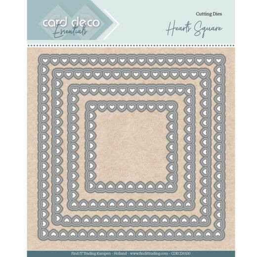 Card Deco, Nesting Dies, Bullet Hearts Square - CDECD0100