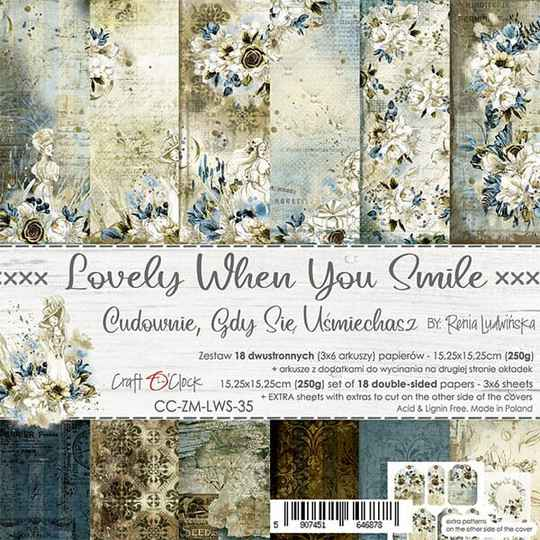 Craft O Clock, Paperpad, Lovely When You Smile , 15,25 x 15,25 cm