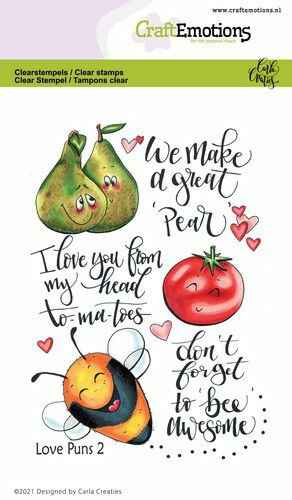 CraftEmotions, Clear Stamp, Carla Creaties, Love Puns 2 - 130501/1505
