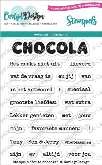 CarlijnDesign, Clear Stamp, Foute Chocola - CDST-0065
