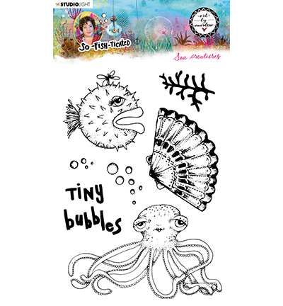 Studiolight, Art by Marlene, Clear Stamp,  So-Fish-Ticated, , Sea Creatures - ABM-SFT-STAMP13