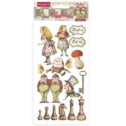 Stamperia, Chipboard, Alice Through the Looking Glass , 15 x 30 cm - DFLCB38