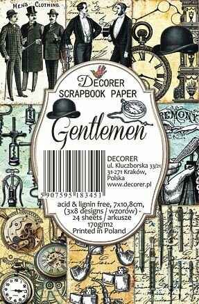 Decorer, Paperpack, Gentlemen, 7 x 10,8 cm - DECOR-M47