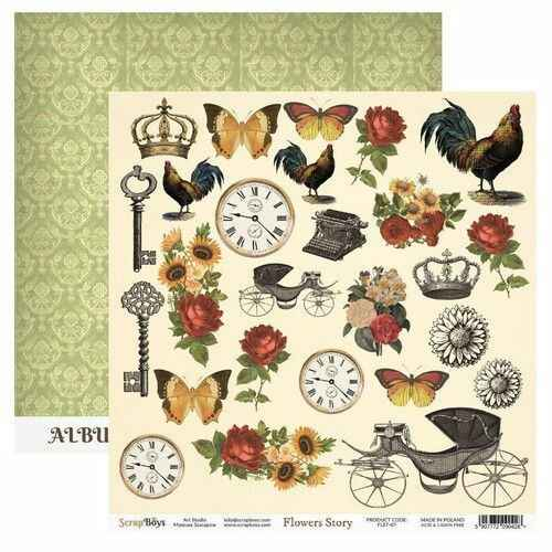 ScrapBoys, Scrapbookpapier, Flowers Story , Cut Out Elements - FLST-07