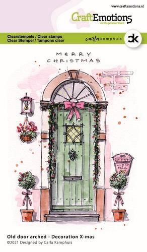 CraftEmotions, Clear Stamp, Carla Kamphuis, Old door arched - Decoration X-mas- 130501/2301